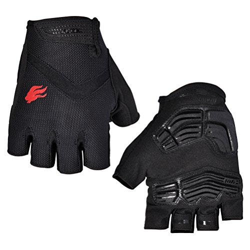FIRELION Breathable Cycling Gloves (Half Finger) - Gel Pad Anti-Slip...