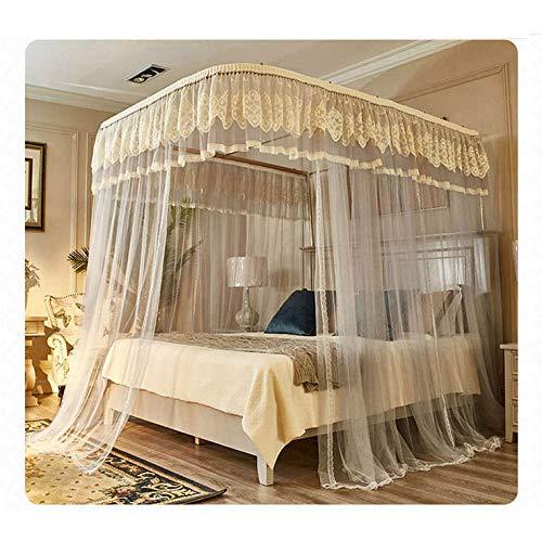 KFRSQ muggennet voor bed, hemel, sofa, grijs, U-rail-vloer, gordijnen, dik muggennet op de grond