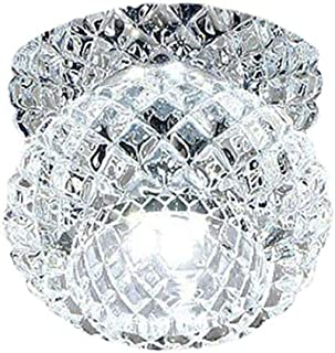 Cicony Lámpara LED de techo de cristal, moderna araña empotrada, lámpara LED de techo para dormitorio, salón, cuarto de baño, pasillo