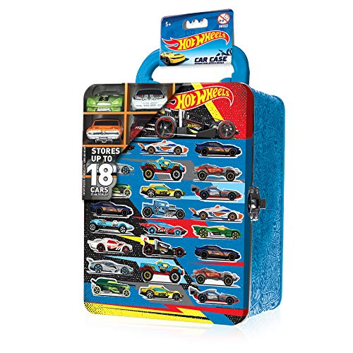 Grandi Giochi- Hot Wheels Maleta de Metal para Coche Ass. (X18 Cars) – Juegos Grandes...