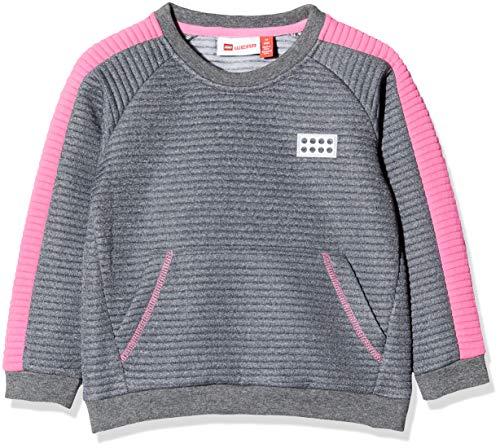 Lego Wear Baby-Mädchen Lwsolar Sweatshirt, Grau (Pink 456), (Herstellergröße:104)