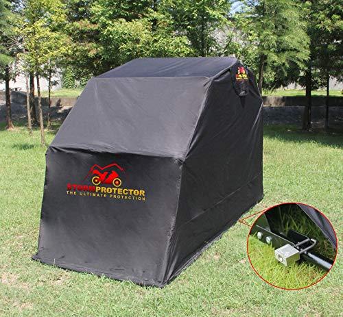 StormProtector Garage per Moto /Coprimoto Impermeabile XL con Struttura in Acciaio Bonificato per Scooter Motociclo/ Motocicletta