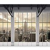 murando Carta da parati 350x256 cm Fotomurali in TNT Murale alla moda Decorazione da Muro XXL Poster Gigante Design Carta per pareti citta New York Panorama Finestra c-A-0074-a-b