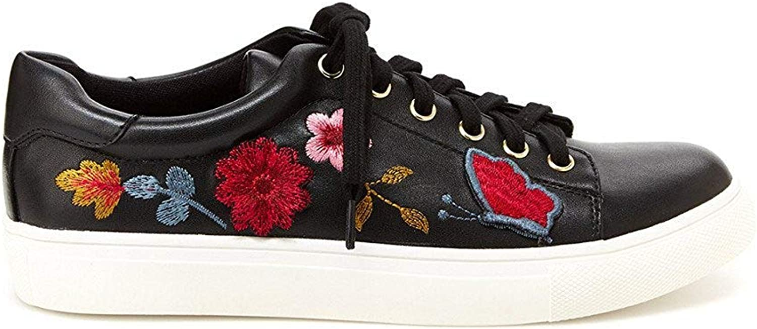 Nanette Nanette Lepore Womens Wildflower Faux Leather Embroidered Casual shoes