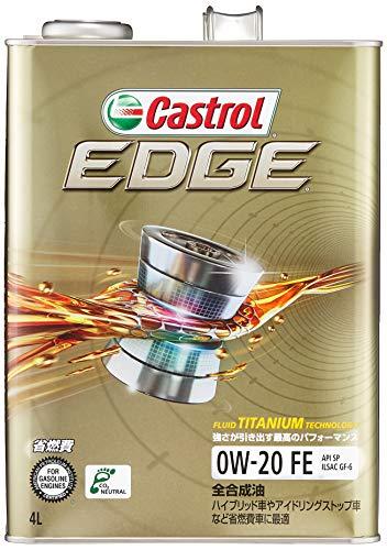 カストロール エンジンオイル EDGE 0W-20 4L 4輪ガソリン車専用全合成油 Castrol