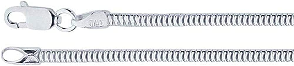 DragonWeave Omaha Mall 2.5mm Sterling Silver Round Chain Unseamed A surprise price is realized Nec Snake