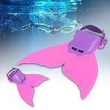GOTOTOP 4 Farbe Flosse Schwimmflossen Meerjungfrau Flossen Monolithische Flossen für Kinder oder...