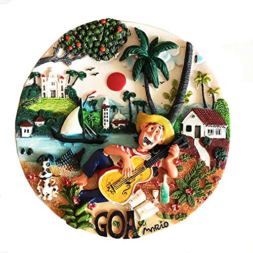 Time Traveler Go Goa Indien kreative handbemalte Kunstharz Handarbeit 3D Schreibtisch Tisch Ornament Souvenir Geschenkkollektion Home Küche Dekoration
