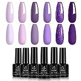 Best Gel Polishes - Beetles Purple Gel Nail Polish Kit- 6 ColorsGel Review