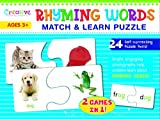 Rhyming Words Match and Learn Puzzle