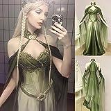 Vestido Medieval para Mujer, Adulto,Mujer Falda Vestido Medieval,Vestido Medieval, Vestido Retro de Malla-S