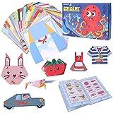 Gitua Origami Papier mit Origami Buch, 152 Blatt 72 Muster Buntes Origami Papier Best Arts and Crafts Geschenk für Kinder Jungen Mädchen, 14 x 14 cm
