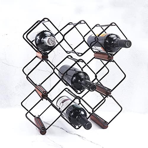 Racks De Vino Encimera Encimera Elegante Y Moderno Para El Almacenamiento De Vinos, Soporte De Botella De Agua Soporte Independiente Para Los Amantes Del Vino Para Los Amantes Del Vino
