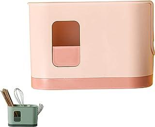 TAMRG Range Couverts en Plastique à 3 Compartiments,Support de Rangement pour Couverts,Égouttoir pour ustensiles de Cuisin...