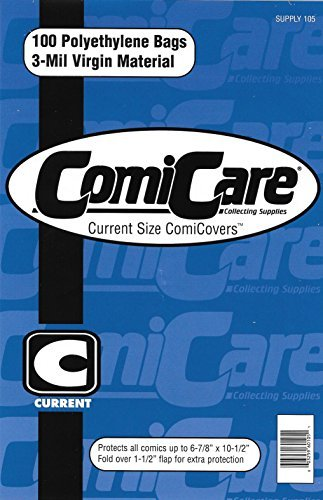 ComiCare Current Comic Book Polyethylene Bags 6-7/8' x 10...