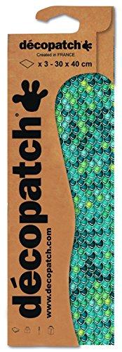 Decopatch papier nr. 729 (turquoise schuur, 395 x 298 mm) 3-pack