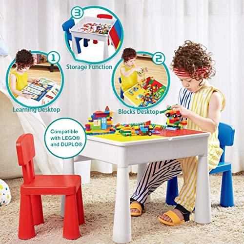 KUBLO Kids - Juego de Mesa y 2 sillas Multiusos 5 en...