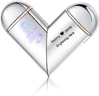 Sponsored Ad - Lighter for Boyfriend Personality Electric Arc Lighter USB Lighter Custom Name Date Smart Fingerprint Senso...
