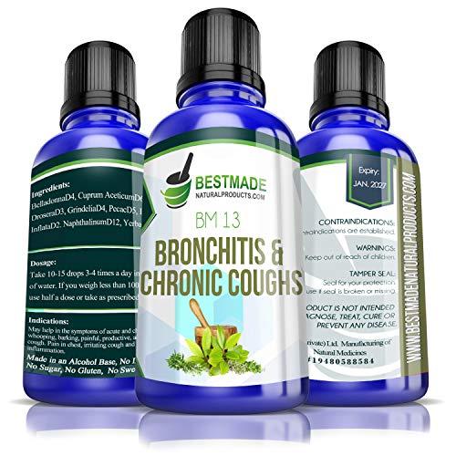Bronchitis & Chronic Coughs Supplement Natural Remedy (BM13)