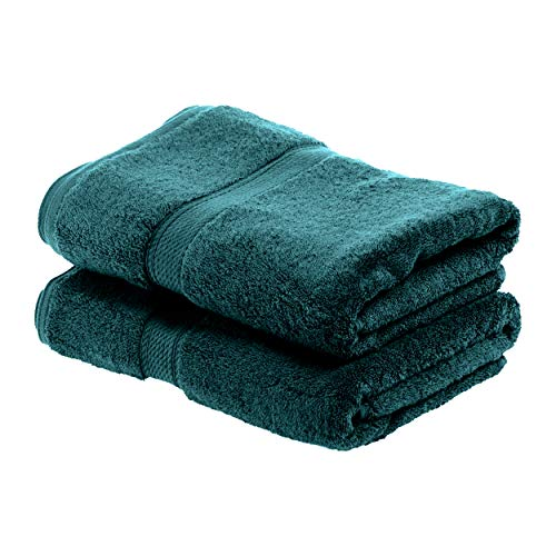 SUPERIOR Egyptian Cotton Solid Towel Set 2PC Bath Teal 2 Count