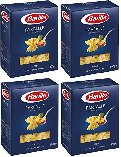 Barilla Farfalle 2 Kg - Pasta di Semola con Ingredienti di Qualità dell'Eccellenza Italiana - Bontà Irresistibile Quotidiana - 4 x 500 g (Farfalle)