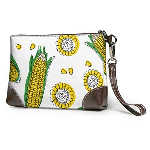 Yushg Billetera de billetera impermeable suave para niñas Una mazorca de maíz...