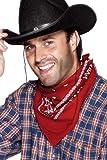 Smiffy'S 22296 Pañuelo De Vaquero Diseño Del Oeste, Rojo, Tamaño Único