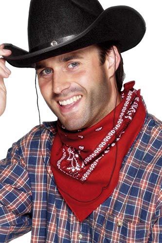 Smiffys Bandana de cowboy, rouge, design Western