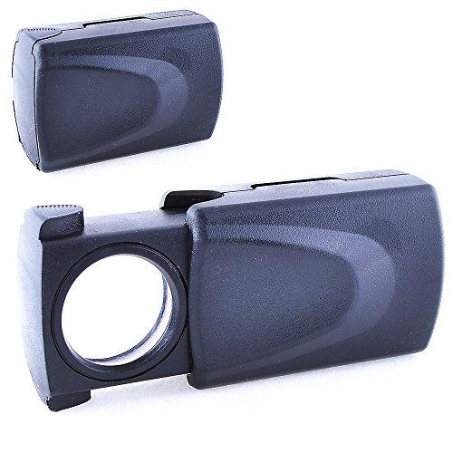 REY Lupa LED 30x, Lupa Iluminada de Precisión con 30 Aumentos y 21mm de Diámetro