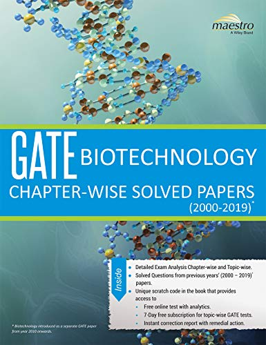 Wiley's GATE Biotechnology Chapter-Wise Solved Papers