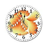 AEMAPE Reloj de Pared Redondo para Acuario, Figura de diseño de fantasía con Escalas estilizadas, Reloj con batería de pez Dorado Abstracto artístico