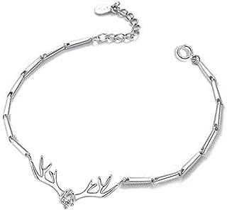 Fascigirl Fashion Elegant Antler Rhinestone Jewelry Bracelet Decor Chain Bracelet for Christmas
