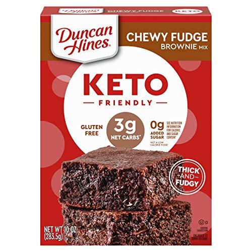 Duncan Hines Keto Friendly Chewy Fudge Brownie Mix, Gluten Free, Zero Sugar Added, 10 oz.