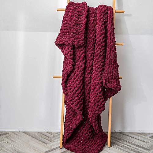 Chenille Dicke gestrickte Decke für Schlafsofa