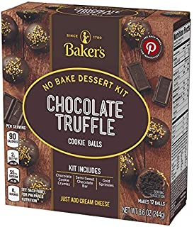 Baker's chocolate truffle cookie balls 8.6oz, pack of 1