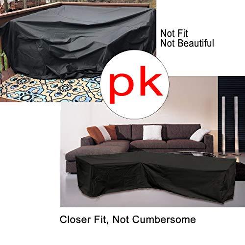 ESSORT L-Form Abdeckung für Gartenmöbel , L Form Schutzhülle Wasserdicht Sofa Abdeckung Schutz vor Staub und verlängert die Lebensdauer von Möbeln - 5