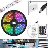 UltraBright 1m / 2m / 3m / 4m / 5m Multicolor 12V IP65 5050 Hada Luz Tiras de RGB LED SMD (60LEDs/m) incl. 24 Teclas IR Mando a Distancia, Controlador (3 Metros)