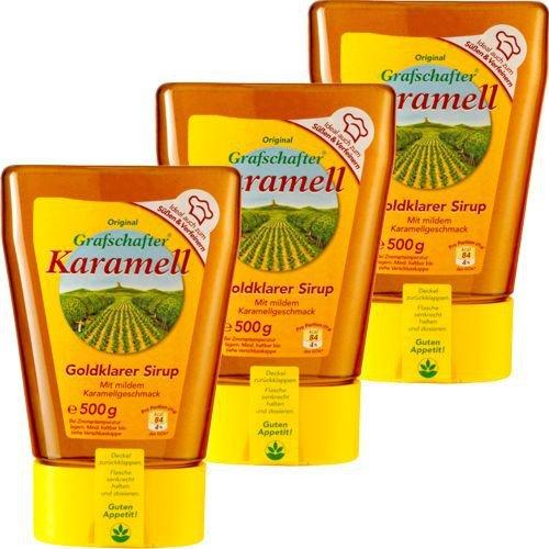 Grafschafter Karamell-Sirup (3 Spenderflaschen a 500 Gramm)