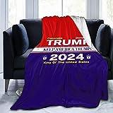 JDENNLX President Trump 2024 Blanket Make Keep America Great Again Ultra Soft Micro Fleece Throw Blanket Novelty Funny Cozy Fuzzy Luxury Soft Plush Microfiber Bed Sofa Blanket(3 Sizes)