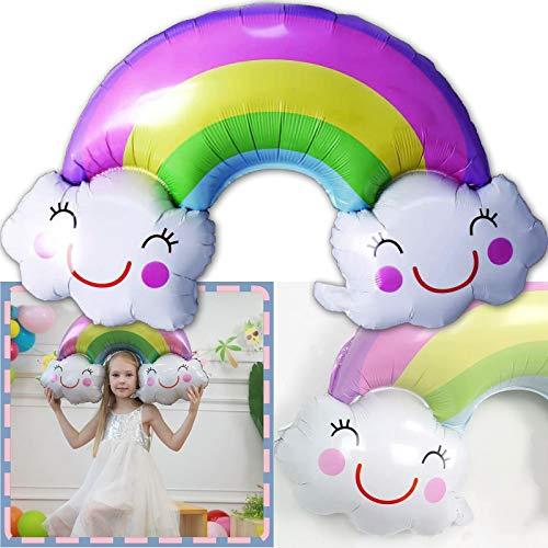 Carpeta Folienballon * Regenbogen * als Deko zum Kindergeburtstag, Party und Event | 90x60cm | Smile Pride Rainbow Dekoration Ballondeko Luftballon