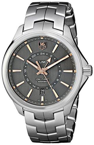 TAG Heuer de Hombre wat201C. BA0951Link Swiss de la Pantalla analógica automático Plateado Reloj