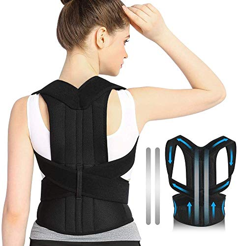 DOACT Back Brace Posture, Posture Corrector For Men Women, Back Support Pain Relief For Upper And Lower Back, Forward Head Posture Fix, Shoulder Brace Posture, Like Back Support For Office Chair (M)