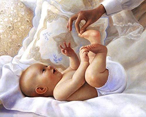 iCoCofly Juego de accesorios de pintura de diamantes 5D, para decoración de pared y entrada de bebé, 30 x 40 cm