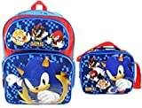 Sonic the Hedgehog Deluxe Full Size 16 Inch Backpack with Insulated Lunch Tote