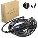 Morec ev Cargador set tiempo de inicio / duración 10 / 16A enchufe Schuko tipo 2 EV cable de carga caja de carga conmutable cable de carga IEC62196-2 2.2 / 3.6kw, 6.5m