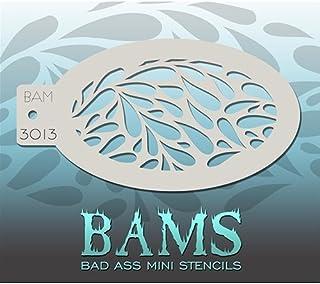 Bad Ass Abstract Swirls Mini Stencil BAM1425
