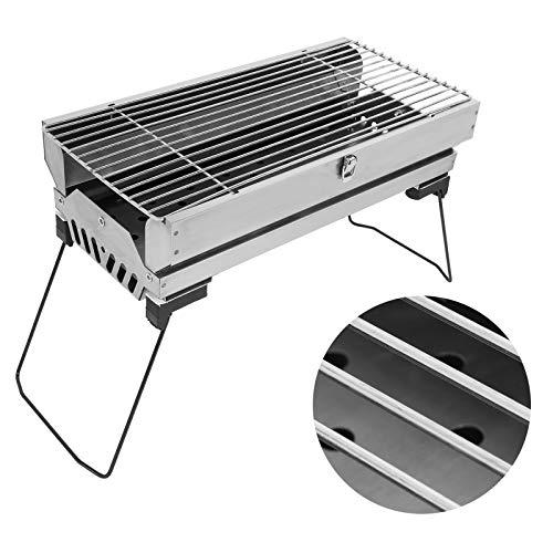 JICWNEW Barbecue Pieghevole Portatile Accessorio Barbecue BBQ per Il Campeggio...
