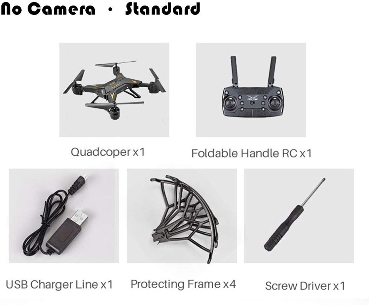 Generic Professional KY601S HDRemote Control Quadcopter Camera Drone Helicopter 4 Channel Long Lasting Foldable Arm Aircraft ExtraBettry Black Without Camera