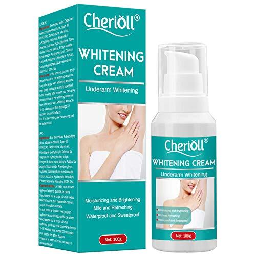 Whitening Cream,Crema Blanqueadora, Skin Whitening Cream, Crema Blanqueadora Cuerpo y Aclarar las Manchas de la piel, Corporal para Piel Oscura, Cuello, 100g