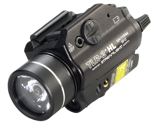 Streamlight 69261 TLR-2 HL 1000-Lumen LED Rail Mounted Tactical Light with Red Laser, Black